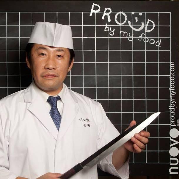 Lo chef Hiroto Akama