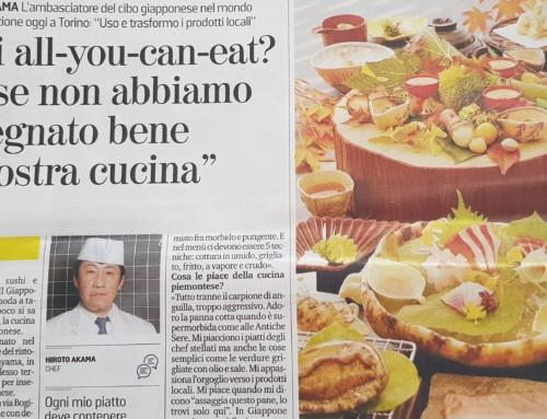 """Hiroto Akama ritorna a Torino con una nuova lezione: """"Sapori, colori, profumi e riflessioni di cucina giapponese"""""""